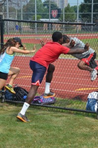 Learning acceleration posture with the Fence Drill