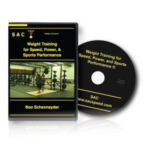 Schexnayder WeightTrainingSpeedPowerSportsPerf DVD Weight Training DVD