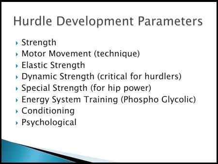 Hurdle Technique & Program Design