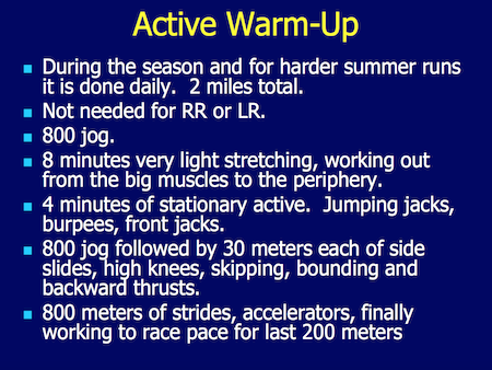 Cross Country Warm up